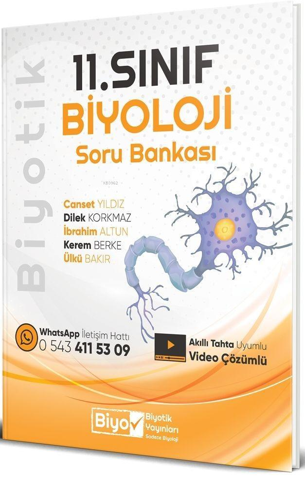 Biyotik Yayınları 11. Sınıf Biyoloji Soru Bankası Biyotik