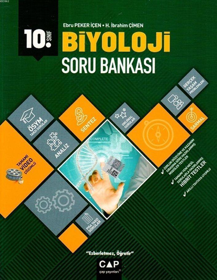 Çap Yayınları 10. Sınıf Anadolu Lisesi Biyoloji Soru Bankası Çap