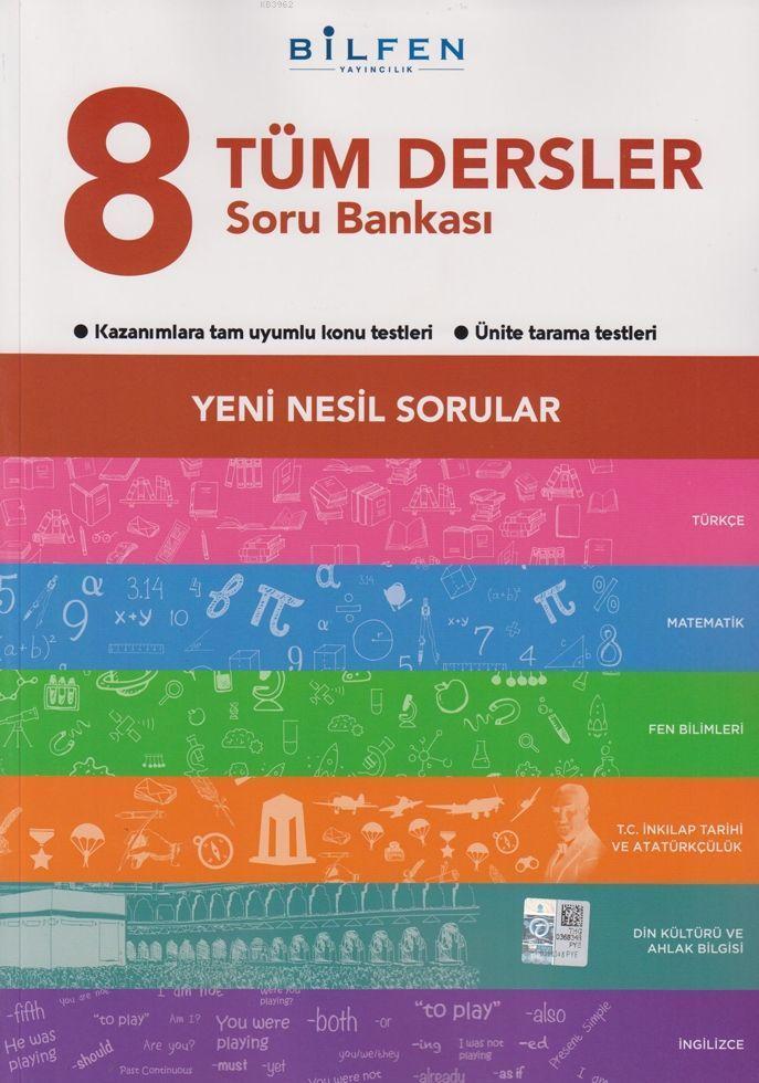 Bilfen Yayınları 8. Sınıf LGS Tüm Dersler Yeni Nesil Sorular Soru Bankası Bilfen