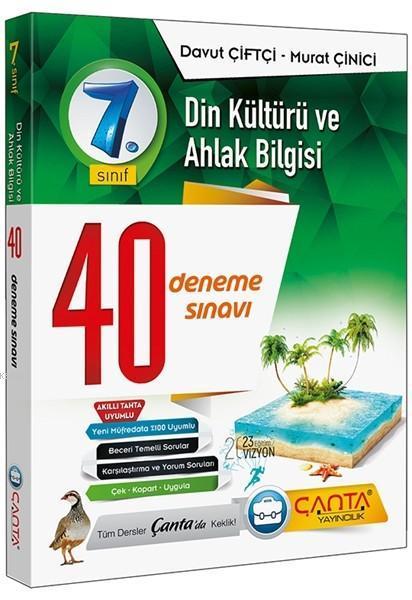 Çanta Yayınları 7. Sınıf Din Kültürü ve Ahlak Bilgisi 40 Deneme Sınavı Çanta