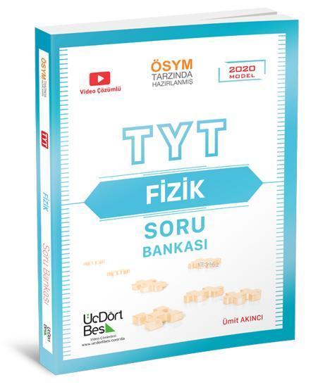 Üç Dört Beş Yayınları TYT Fizik Soru Bankası 2020 Model Üç Dört Beş