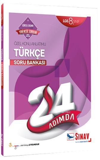 Sınav Dergisi Yayınları 8. Sınıf LGS Türkçe 24 Adımda Özel Konu Anlatımlı Soru Bankası Sınav Dergisi
