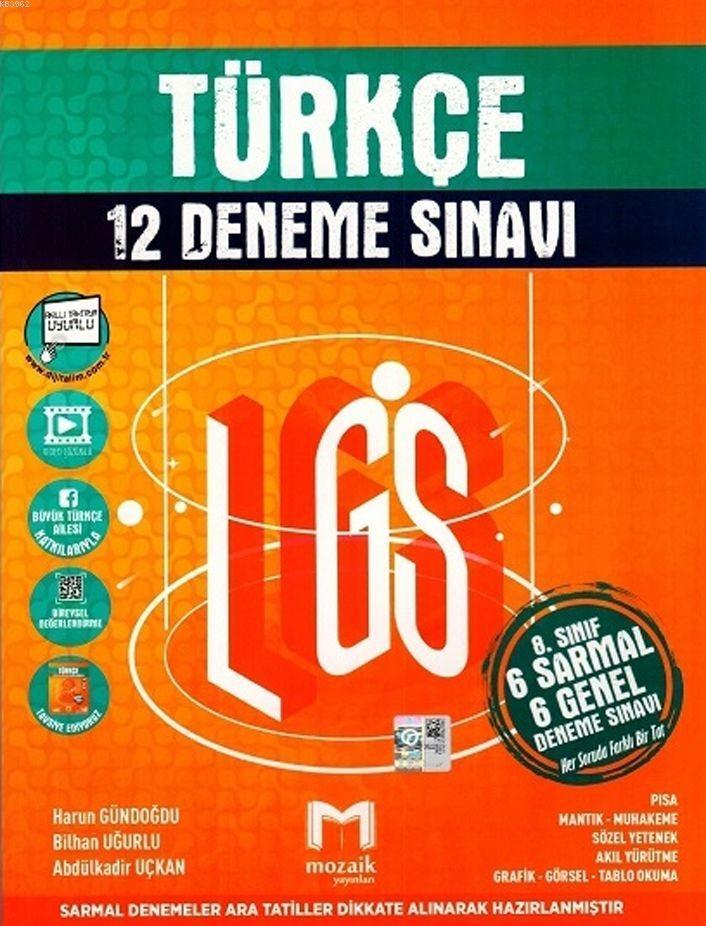 Mozaik Yayınları 8. Sınıf LGS Türkçe 12 Deneme Sınavı Mozaik
