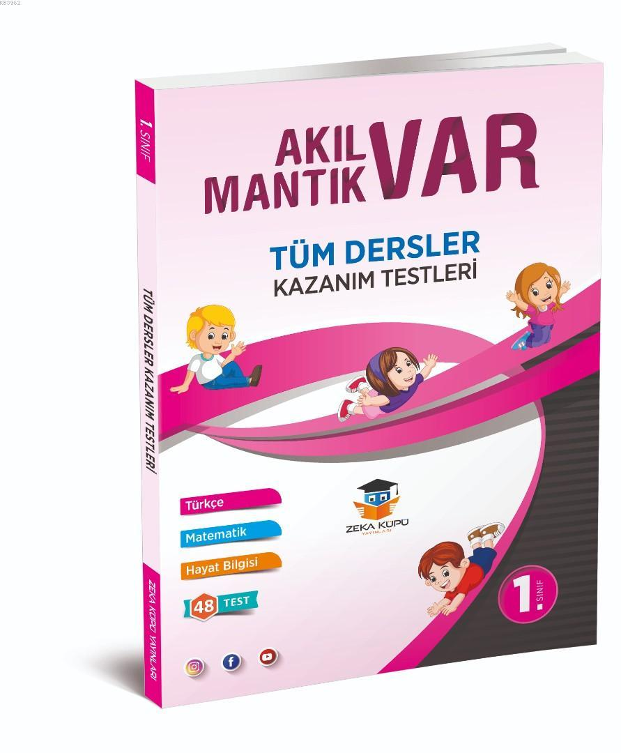 Zeka Küpü Yayınları 1. Sınıf Tüm Dersler Akıl Var Mantık Var Kazanım Testleri Zeka Küpü